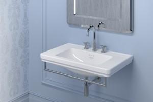 Závěsné umyvadlo Catalano Canova Royal s Cataglaze+ Silver Titanium.