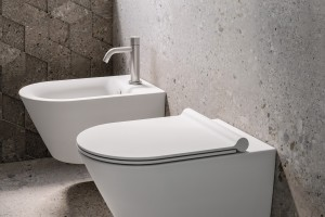 Závěsné wc a bidet Catalano New Zero s Newflush.