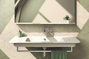 Závěsné umyvadlo Catalano Green s Cataglaze+ Silver Titanium.