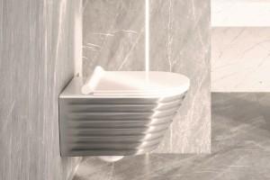 Luxusní závěsné wc Gold&Silver Classy s Newflush, střbrná barva.
